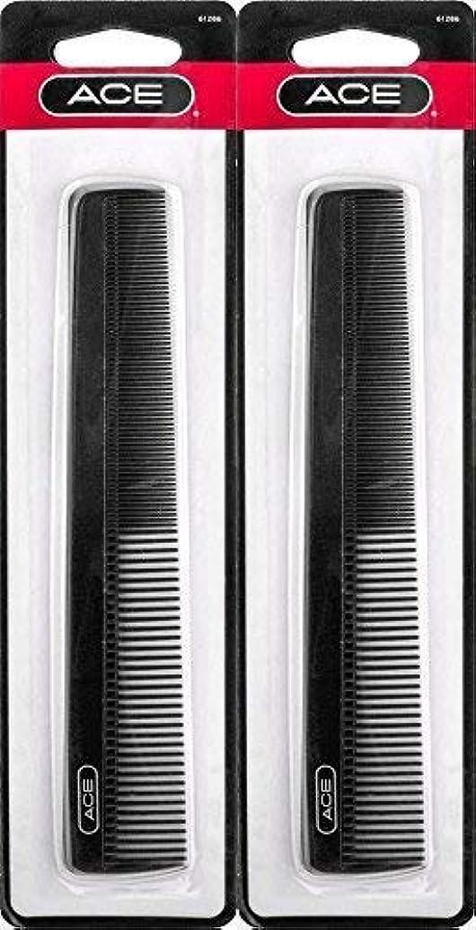 経験者小競り合いモチーフACE - 61286 All - Purpose Comb (7 Inches) (Pack of 2) [並行輸入品]