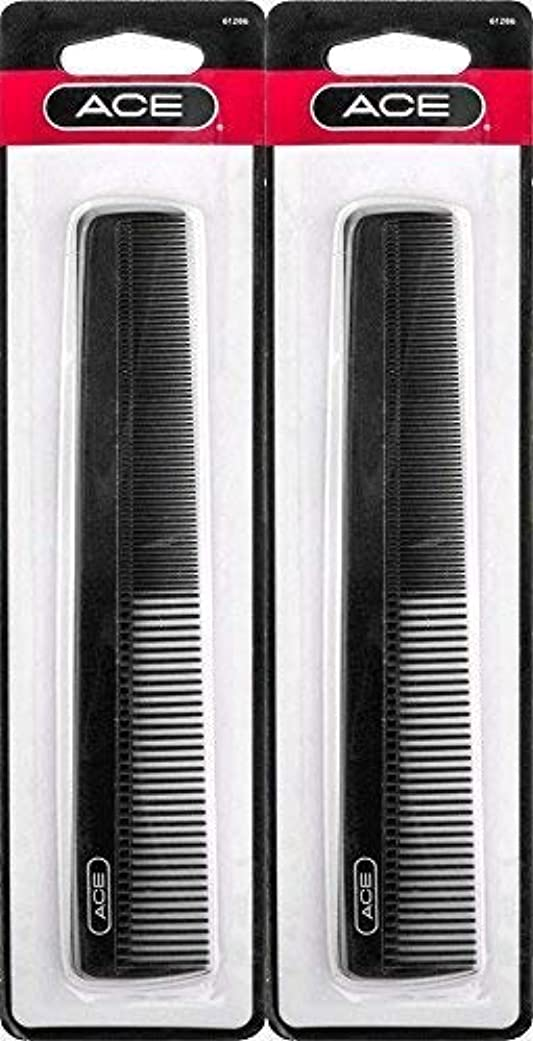 レバー月曜段階ACE - 61286 All - Purpose Comb (7 Inches) (Pack of 2) [並行輸入品]