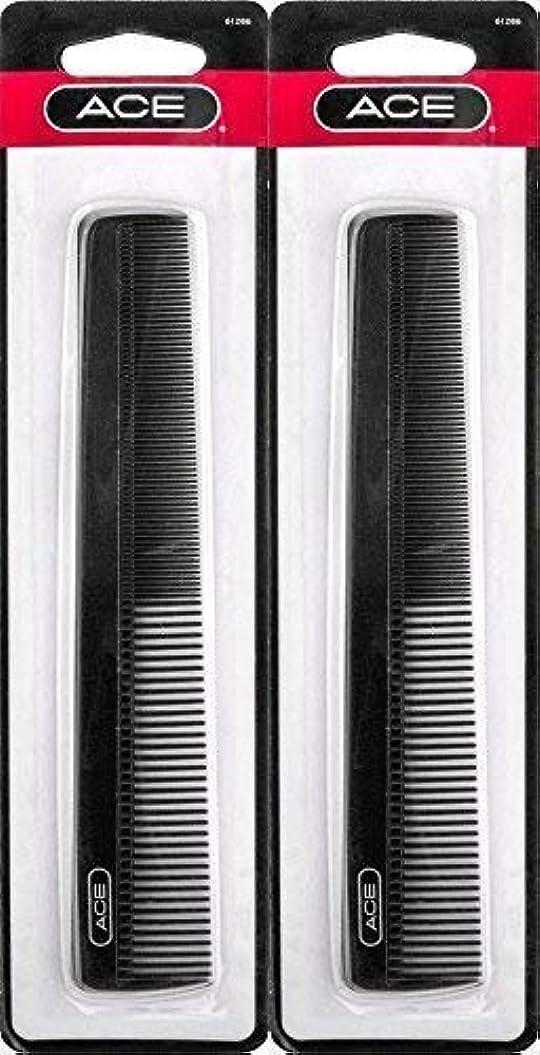 ワンダー脱獄吐くACE - 61286 All - Purpose Comb (7 Inches) (Pack of 2) [並行輸入品]