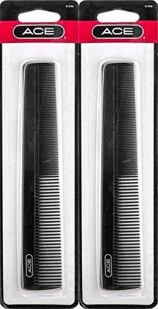 嫌がるエンドテーブルスーパーマーケットACE - 61286 All - Purpose Comb (7 Inches) (Pack of 2) [並行輸入品]