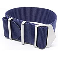 Spring Made Premium 22mm and 20mm NATO Strap Watch Band. Nylon Watch Strap with Micro-Adjustment.