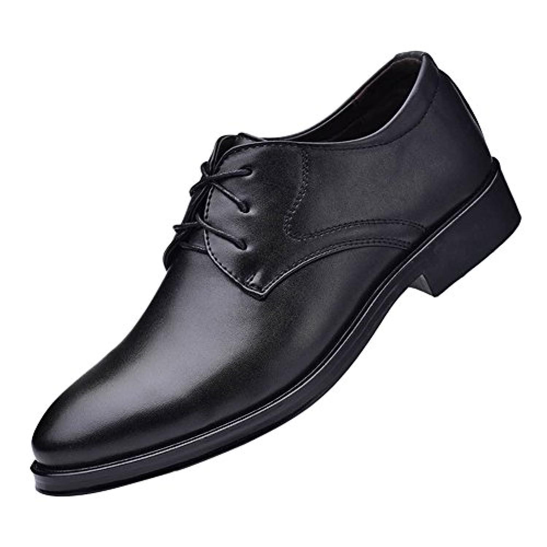 Fingertip ビジネスシューズ 紳士靴 メンズ 本革  軽量 レースアップ 防滑