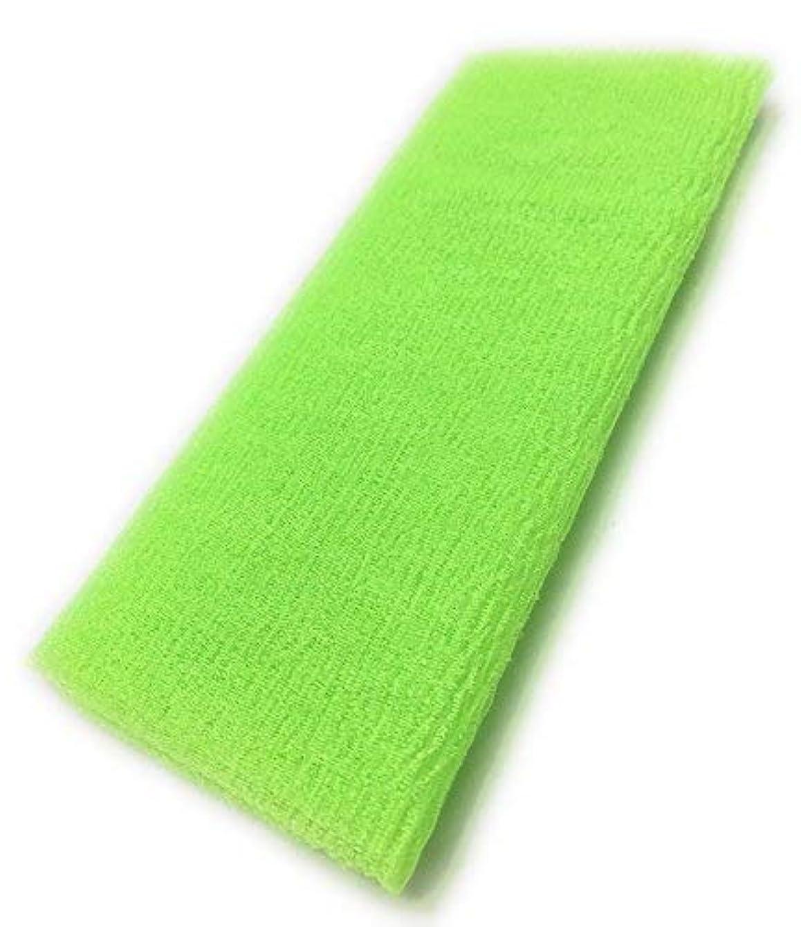 対抗スイッチ放射性Maltose あかすりタオル ボディタオル ロングボディブラシ やわらか 濃密泡 背中 お風呂用 メンズ 4色 (グリーン)