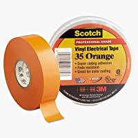"""Scotch 35カラーコーディングビニール電気テープ、3/ 4"""""""" X 66ft、オレンジ、Sold As 1ロール"""