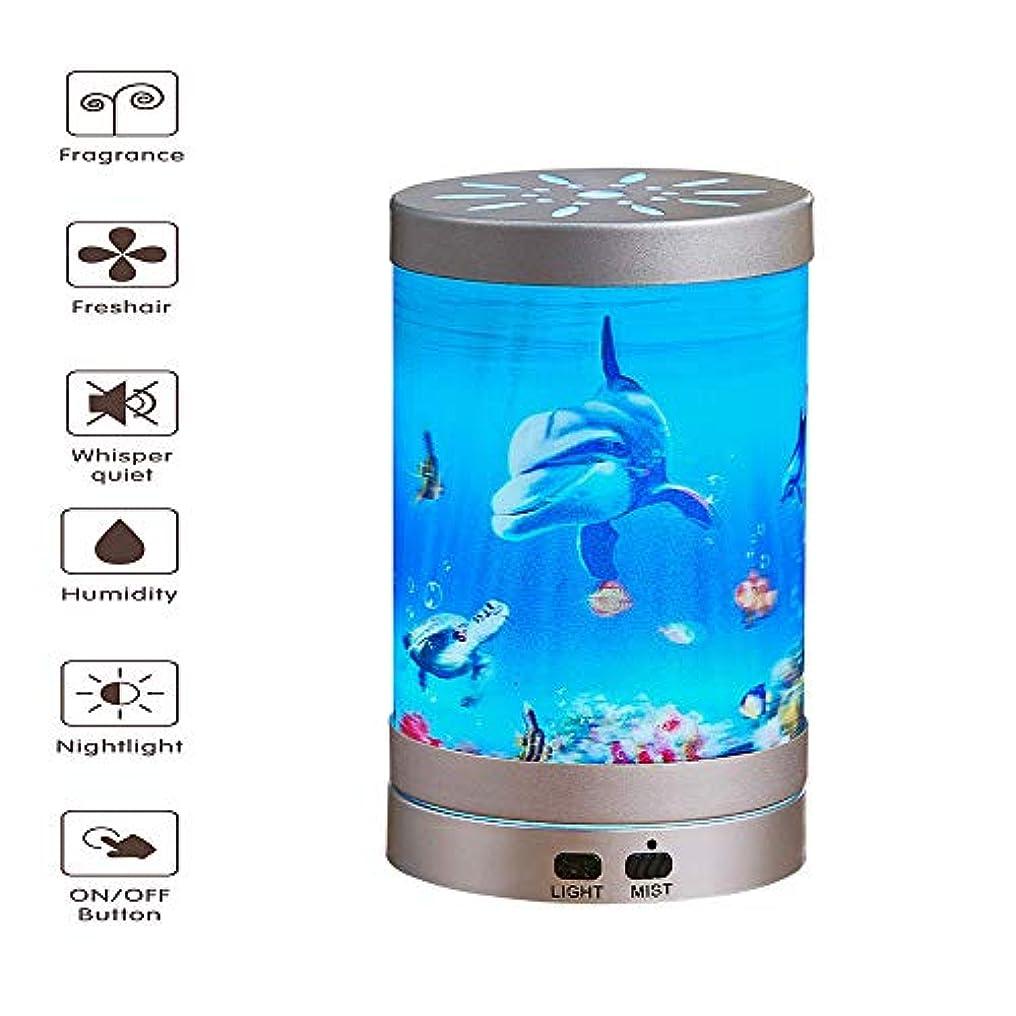 親確認困惑するアロマディフューザー - 超音波空気加湿器LEDナイトライト7色交換水なし自動シャットダウン(海底世界200ml)