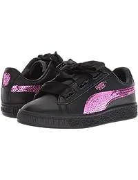 [PUMA(プーマ)] キッズスニーカー?靴 Basket Heart Bling PS (Little Kid) Puma Black/Orchid 11.5 Little Kid (17.5cm) M