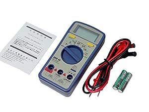 マルチデジタルテスター【DE-200A】【デジタルマルチメーター】【携帯用】【多機能】【導通検査/温度測定可能】取説付
