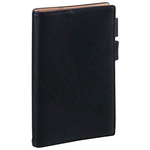 ダ・ヴィンチグランデ アースレザー 聖書サイズシステム手帳 リング11mm JDB113 B [ブラック]