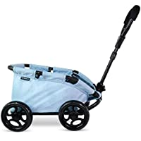 Triokid NEW Design My First Toy Wagon Trioswagon Blueberry Blue Deluxe Doll Stroller Drawable Fabric