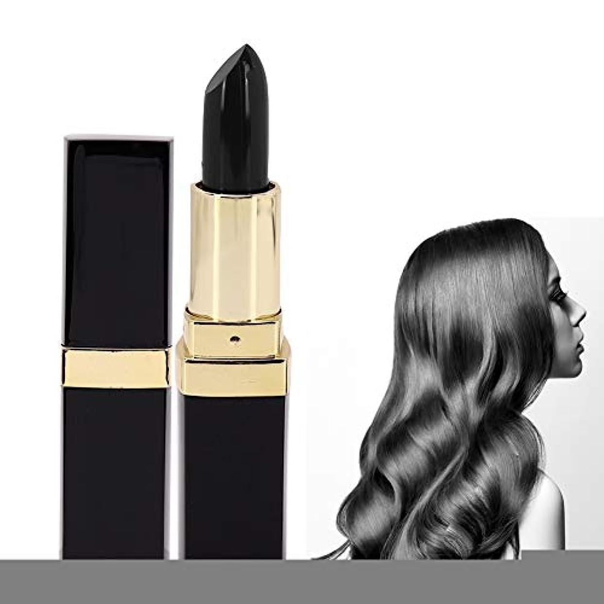とんでもない連続的重なる使い捨ての髪の色は鉛筆スティック美容ツールを変更します(褐色), 使い捨てポータブル口紅の形の染料の髪の色は、鉛筆スティック美容ツールを変更します(茶色)