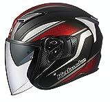 オージーケーカブト(OGK KABUTO)バイクヘルメット ジェット EXCEED DEUCE(デュース) フラットブラック (サイズ:S) 584535