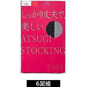 (アツギ)ATSUGI ストッキング ATSUGI STOCKING(アツギ ストッキング) しっかり丈夫で、美しい。 〈3足組2セット〉 FP8833P 480 ブラック L~LL