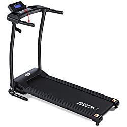 Genki Electric Treadmill Foldable Exercise Machine 1HP Quiet Jogging Walking Machine, 6 Quick Speed and 12 Preset Programs Motorised Treadmill