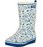(エスプラスインポート)S.Plus Import レインシューズ 長靴 雨靴 花柄 フラワー おしゃれ ロング丈 ブルー 38