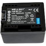【WELLSKY】 Canon キヤノン  ● BP-727 互換バッテリー ● 純正充電器で充電可能 残量表示可能 ● iVIS HF M52 / HF M51 / HF R31 / HF R30 / HF R32 / HF R42 / HF R52 / HF R62 / HF R700 / HF R72