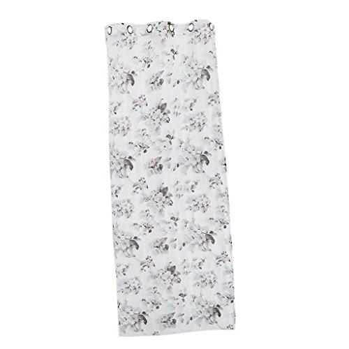 【ノーブランド品】ホーム リビング 窓 カフェ オフィス 寝室用 薄手 アイレット パンチ カーテン 花 100 * 250cm
