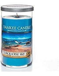 Yankee Candles Medium Pillar Candle - Turquoise Sky (Pack of 2) - ヤンキーキャンドルメディアピラーキャンドル - ターコイズの空 (x2) [並行輸入品]