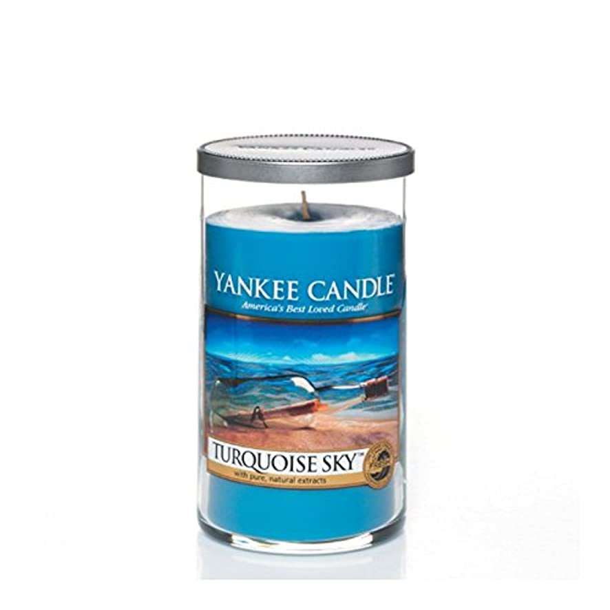 危険な休暇長々とYankee Candles Medium Pillar Candle - Turquoise Sky (Pack of 2) - ヤンキーキャンドルメディアピラーキャンドル - ターコイズの空 (x2) [並行輸入品]