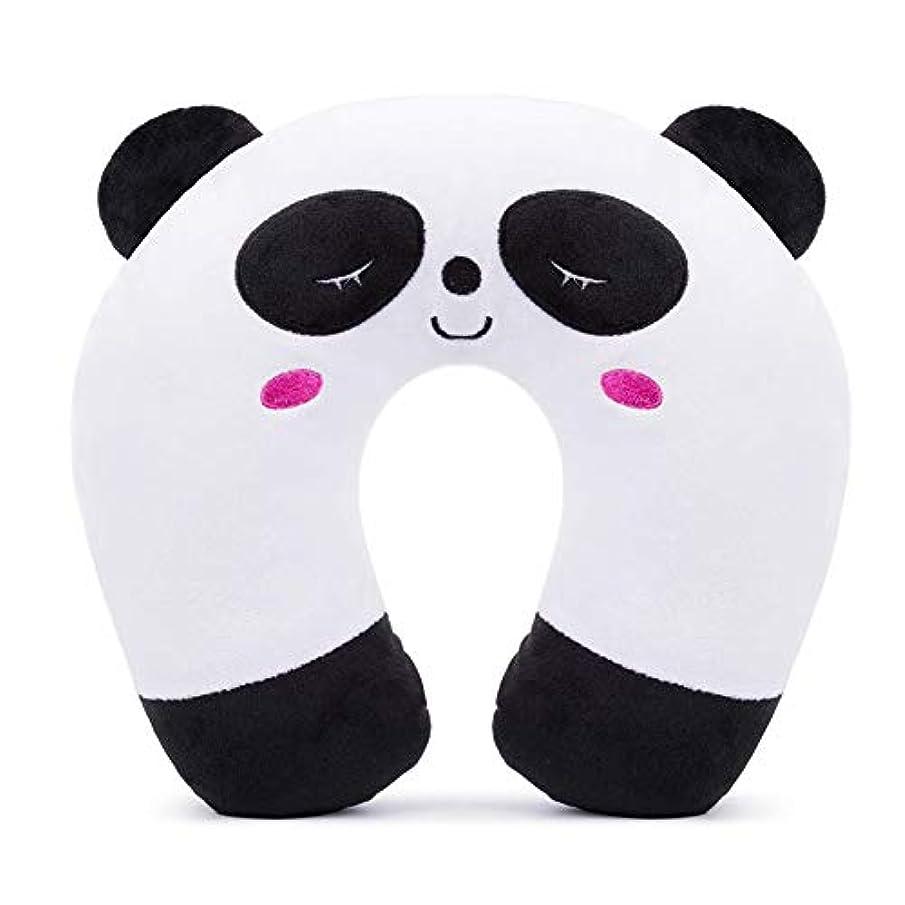 表面つかいます打ち負かすキッズUシェイプクッションぬいぐるみ動物旅行ピローネックサポート子供のための飛行機列車の子供のネック枕の子供の大人のための,Panda