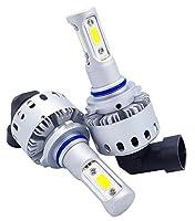 zodoo LEDヘッドライト HB3 ワンタッチ取付 切替タイプ 高品質COBチップ搭載 6000Lm ホワイト 6500K 2個セット Z7PHB3
