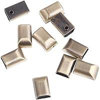(ライチ) Lychee 10個セット ファスナー ジッパー エンド 整理 収める金具 ネジ付き 手芸 修理 ネジ色お任せ