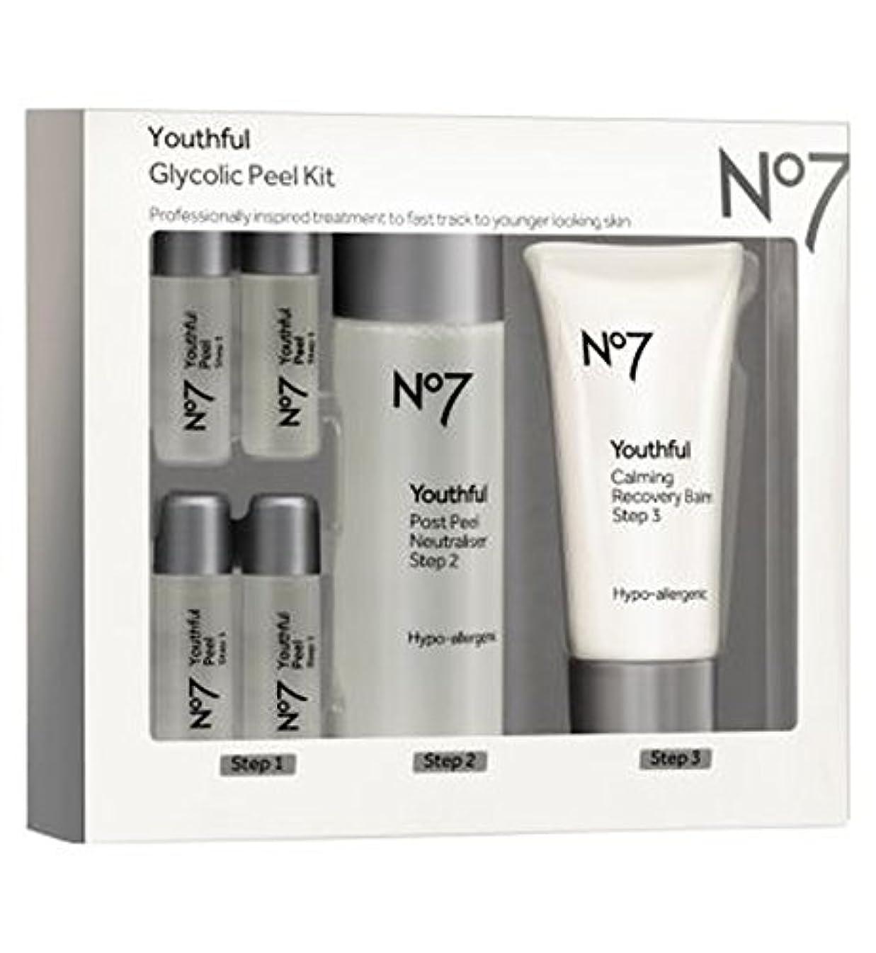 潮屈辱する手書きNo7 Youthful Glycolic Peel Kit - No7若々しいグリコールピールキット (No7) [並行輸入品]