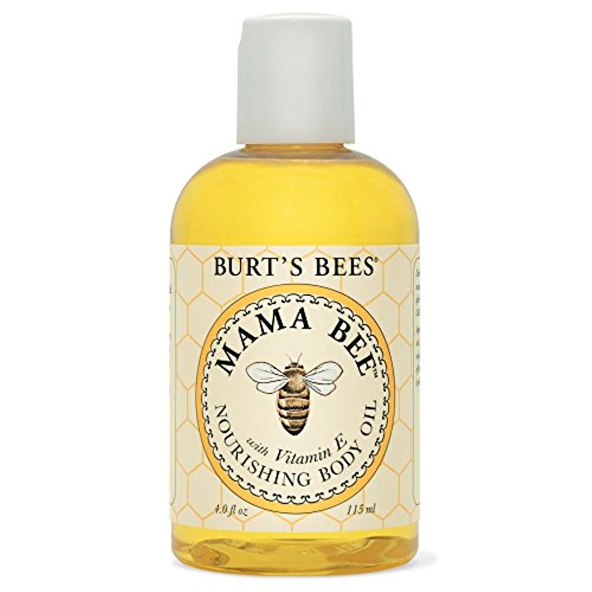 はしごの面では湿気の多いバーツビーママ蜂栄養ボディオイル115ミリリットル (Burt's Bees) (x6) - Burt's Bees Mama Bee Nourishing Body Oil 115ml (Pack of 6) [並行輸入品]