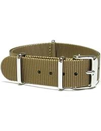 ワカキセ 腕時計ベルト NATOタイプ 18mm waca-516 (カーキ)