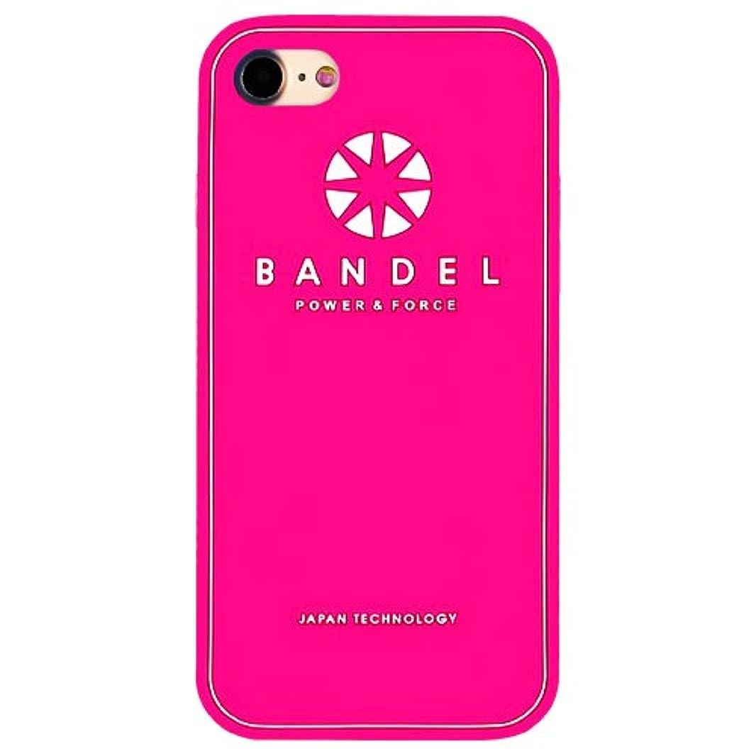 リル緯度暗殺バンデル(BANDEL) ロゴ iPhone 8専用 シリコンケース [ピンク]