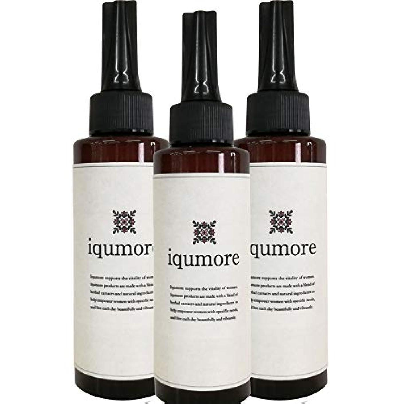 優先控えめな未満イクモア(iqumore)ハーバルヘアケアジェル 約90日分(120ml×3本) 女性向け 育毛 薄毛対策