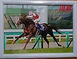 ミルコデムーロ騎手 JRAスワーヴリチャード号 大阪杯優勝 直筆サイン入り写真パネル 競馬