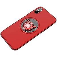iphoneXS ケース/iphone x ケース リング付き 衝撃防止 [ ガラスフィルム付き ] スタンド機能 アイフォンxケース おしゃれ 衝撃吸収 シリコン 落下防止 軽量 携帯カバー バンカーリング スマホケース +R [ レンズ保護 耐衝撃 指紋防止 ]