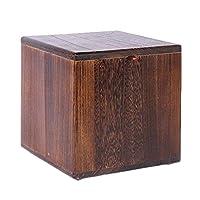 ZHAOYONGLI スツール オットマン Ottomansプーフフットスツールソリッドウッドフレーム収納デザインコーヒーテーブルスツールアンティーク (色 : Oak color, サイズ さいず : 27*27*27cm)