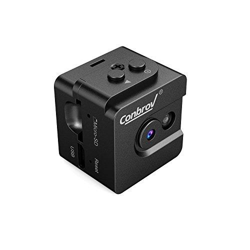 Conbrov 超小型隠しカメラ HD防犯監視カメラ ミニスパイカム セキュリティモニター LED赤外線撮影 ボイスセンサー サイクル録画1280*720P