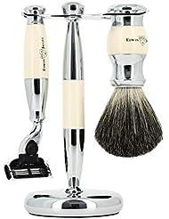 エドウィンジャガー 3ピース アイボリー&クロムマッハ3 シェービングセット(S81M357CR)[海外直送品]Edwin Jagger 3 Piece Ivory & Chrome Mach 3 Shaving Set...