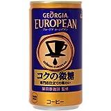 コカ・コーラ ジョージア ヨーロピアン コクの微糖 185ml缶×30本