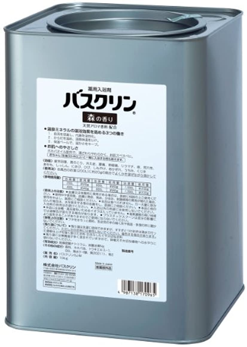 レッスンベックス左【医薬部外品/業務用】バスクリン入浴剤 森の香り10kg 大容量 疲労回復