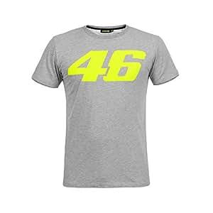 ヤマハ(YAMAHA) Tシャツ VR46 ヴァレンティーノ ロッシ 46ロゴ グレー Mサイズ(欧州) Q5D-YSK-606-00M