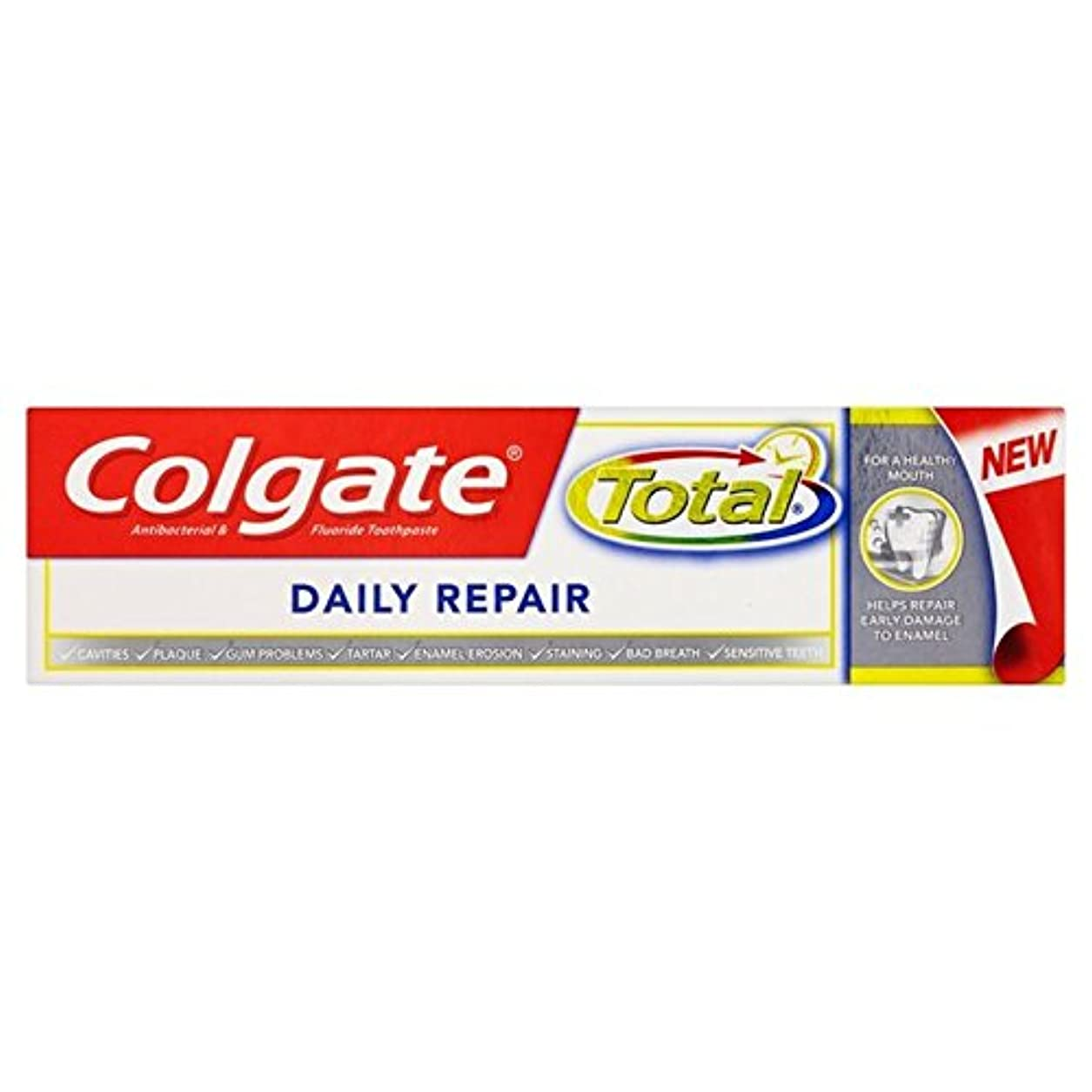 突撃ペパーミント最適コルゲートトータル毎日修理歯磨き粉75ミリリットル x2 - Colgate Total Daily Repair Toothpaste 75ml (Pack of 2) [並行輸入品]