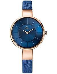 [オバック] OBAKU 腕時計 ウォッチ ブルー×ローズゴールド シンプル レディース [並行輸入品]