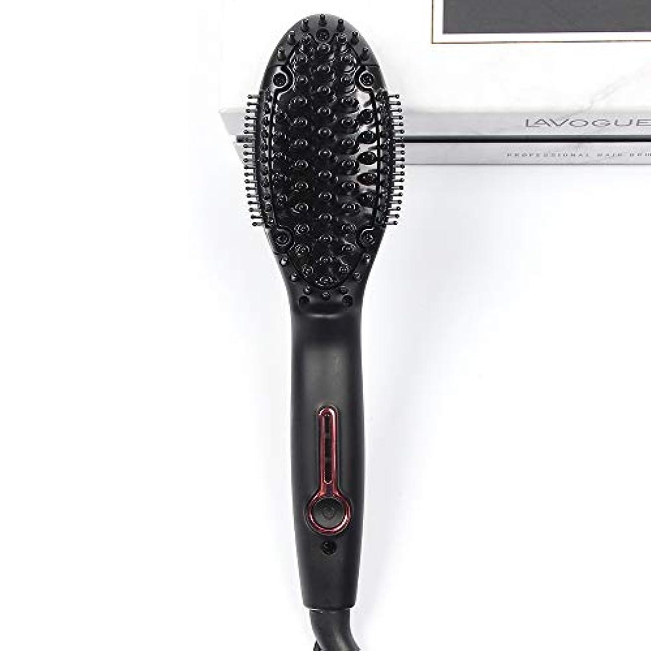 ユニークなヒステリック再生的プロのセラミックストレートヘアアイロン、ミニ多機能ストレートヘア櫛アンチスケーリングマッサージ歯矯正は髪を傷つけません
