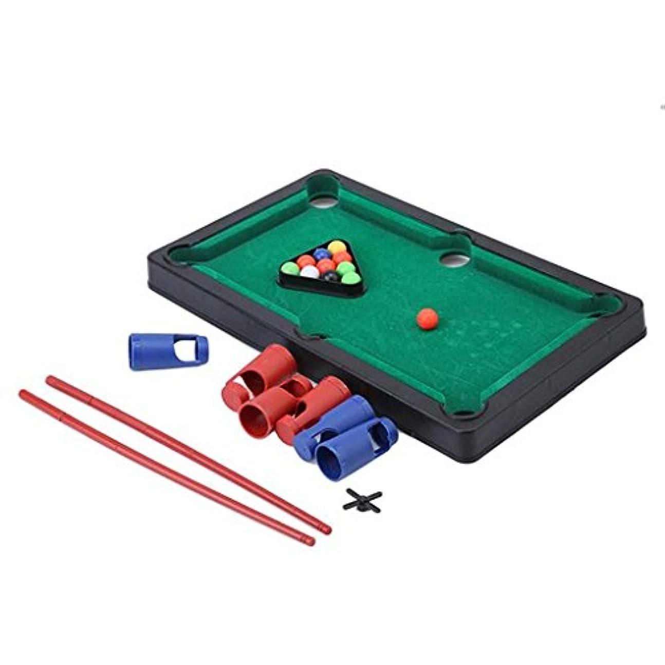 に向かってくぼみ適性GUAngqi Mini Pool Table Game Table Top With Accessories Board Games Billiards Set