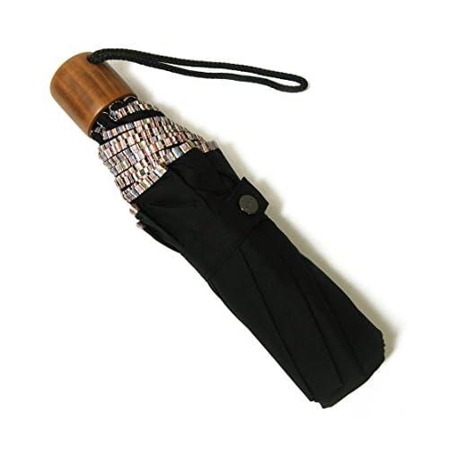 (ポールスミス) 傘 折り畳み アンブレラ マルチストライプ ウッド ハンドル PA-1243 [並行輸入品]