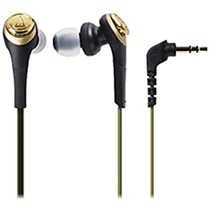オーディオテクニカ SOLID BASS インナーイヤーヘッドホン ブラックゴールド ATH-CKS550 BGD
