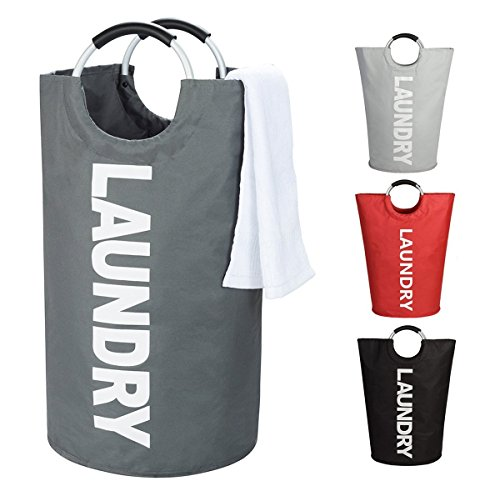 WISHPOOL ランドリーバスケット 洗濯物入れ 折り畳み式 撥水加工 大容量...