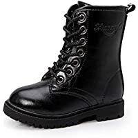 Inlefen Boy girl Shoes Martin boots Parent-child High help zipper Casual shoes