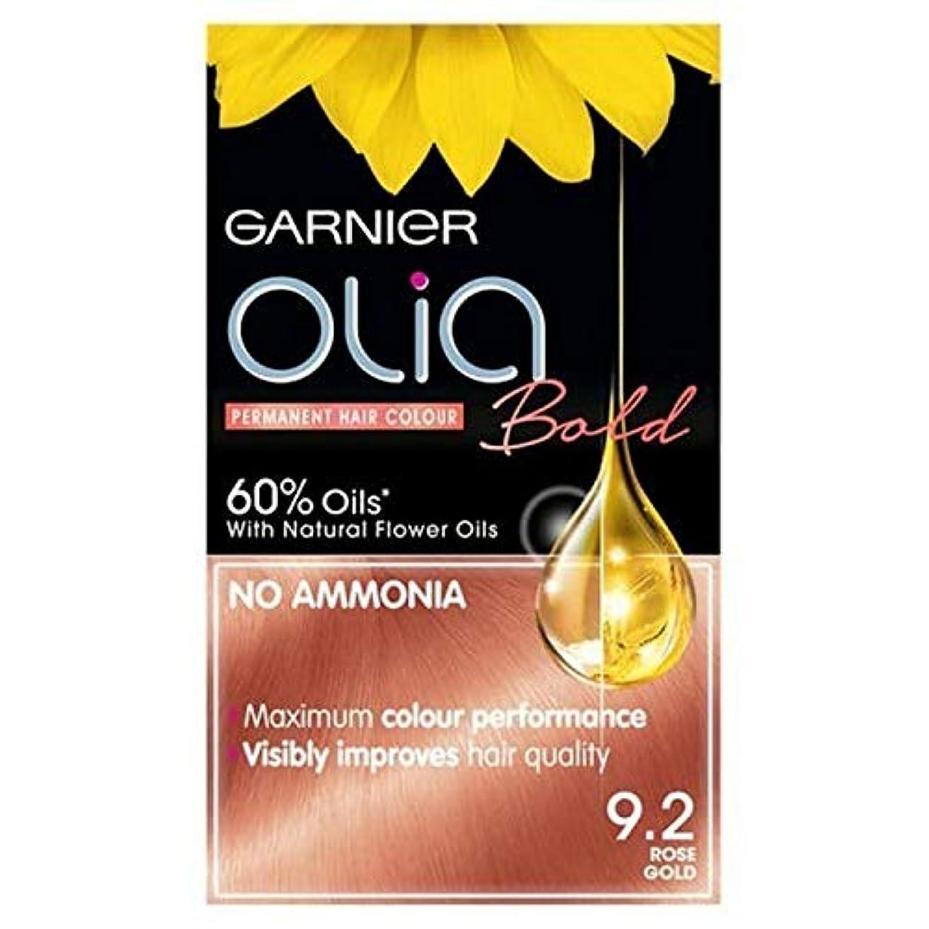 滞在特徴羽[Garnier ] ガルニエOlia大胆永久染毛剤には、金9.2ローズ - Garnier Olia Bold Permanent Hair Dye Rose Gold 9.2 [並行輸入品]