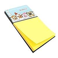 Caroline 's Treasures Merry Christmas CarolersフレンチブルドッグクリームSticky Noteホルダー、マルチカラー( bb2341sn )