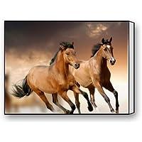 """ベストセラー、100%ブランド新しい、Running Horseテーマキャンバス印刷も含ま(フレーム) -メジャーサイズ: 16( L ) """" X 12( W ) """""""