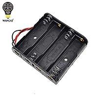 新しいプラスチック標準サイズ4本の単3電池ケースホルダーボックス(リード線付き)4本入り単三電池